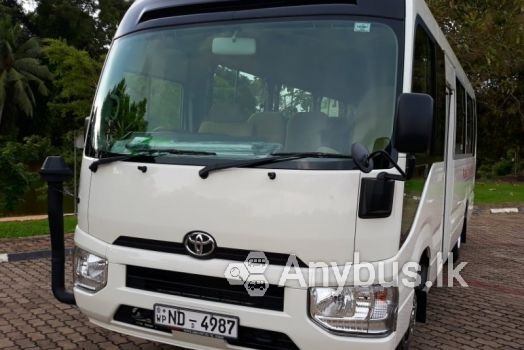 New Toyota Coaster Bus for Special Hire Services 29 Seats Gampaha