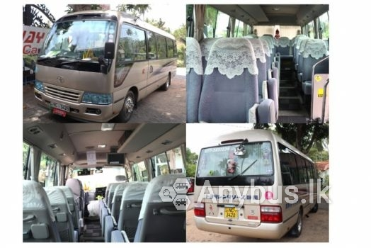 Toyota Coaster Bus for Hire 29 Seats Wennappuwa - Weekends and Holidays Only