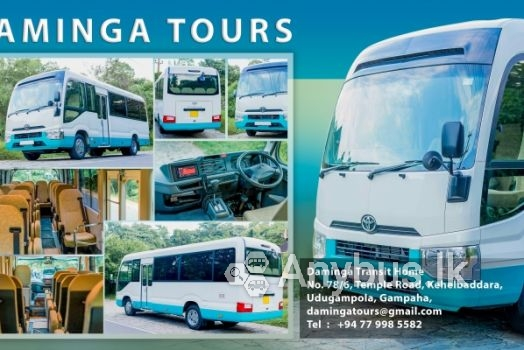 Daminga Tours - Toyota Coaster (2019) Bus for Hire (28 Seats)